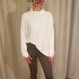 Free People Soft Knit Cream Turtleneck